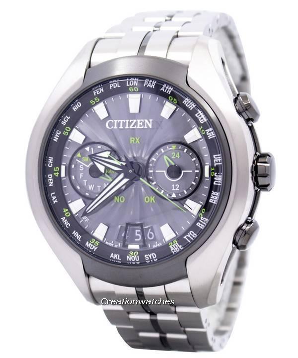 856246408d4 Citizen Eco-Drive Satellite Wave Air GPS Titanium Sapphire CC1054-56E Men s  Watch