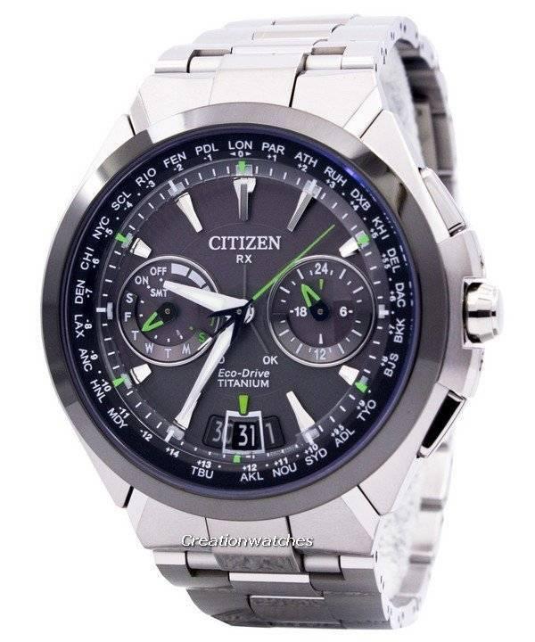 5f204809226 Relógio Citizen Eco-Drive Attesa titânio satélite onda ar GPS 100M  CC1086-50E masculino