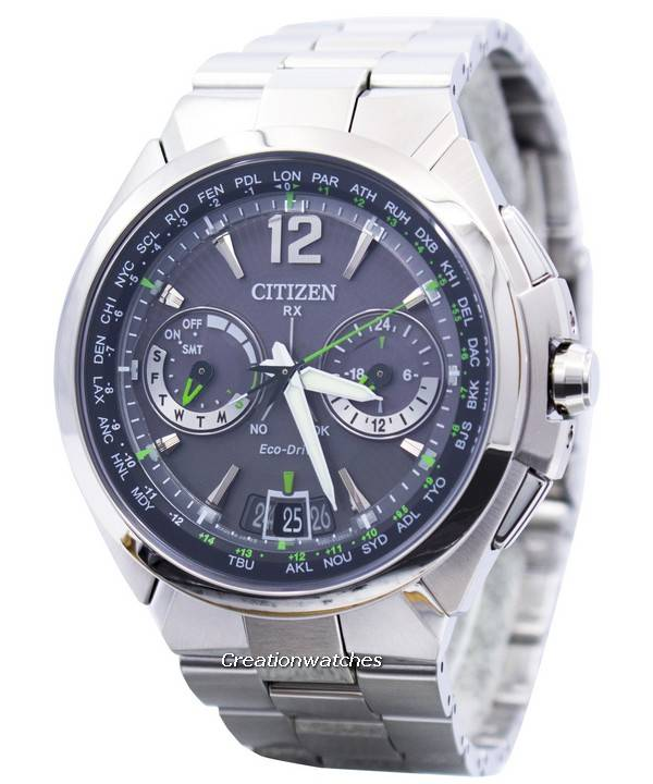 aee57982bb8 Citizen Eco-Drive Attesa Satellite Wave Air GPS 100M CC1091-50F Men s Watch