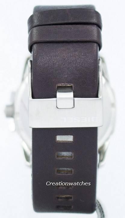 f7f78ca1fe7 Relógio diesel Master Chief quartzo marrom couro DZ1206 masculino pt