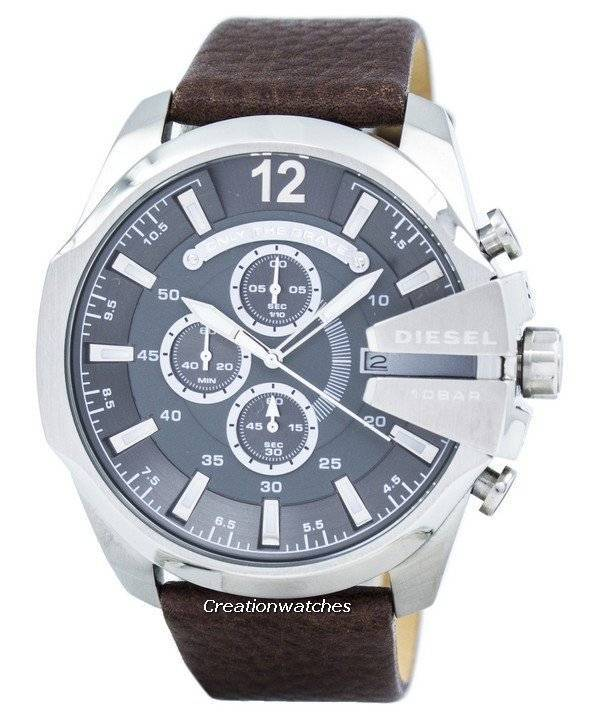 first rate classic shoes latest Diesel Mega Chief Chronograph Grey Dial DZ4290 Mens Watch