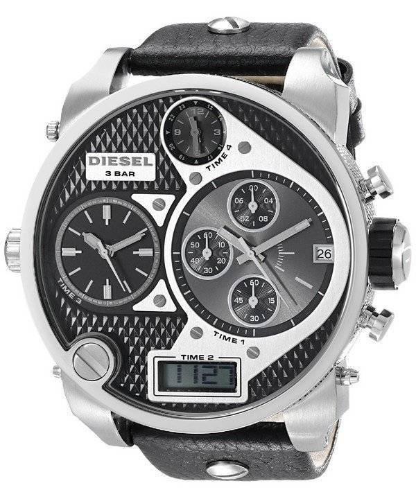7705a4f79a9 Relógio diesel cronógrafo mostrador Multi preto couro Strap DZ7125 dos  homens