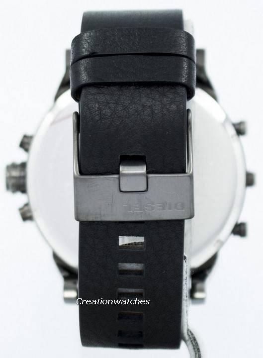 cc38bd1df884 Diesel Mr. Daddy 2.0 Black Dial Black Leather DZ7348 Reloj para hombre
