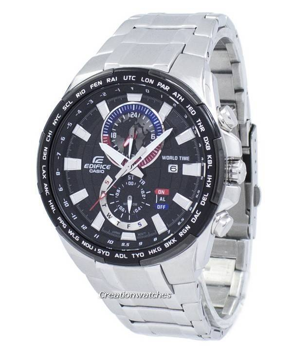 Casio Edifice World Time Quartz EFR-550D-1AV EFR550D-1AV Men s Watch b370ea1af