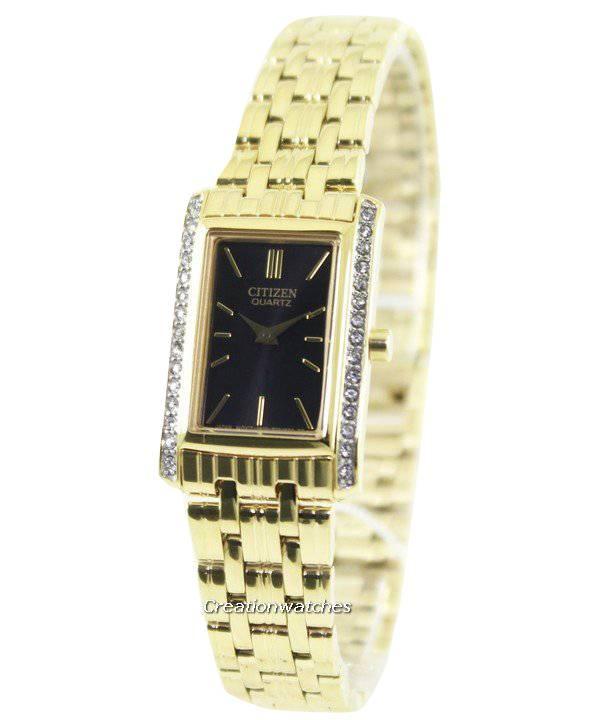 61cee0ea301 Relógio Citizen Quartz cristais de Swarovski EK1122-50E feminino pt