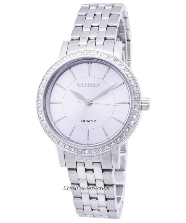 be8440c6aff Relógio Citizen Quartz EL3040-80A analógico diamante acentos feminino pt