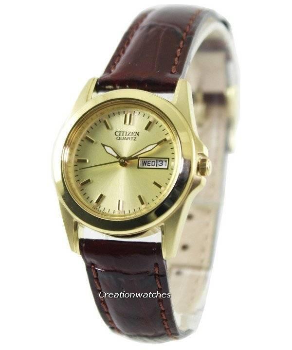 Quartz Womens 03p Watch Gold Eq0562 Tone Citizen wm8nv0N