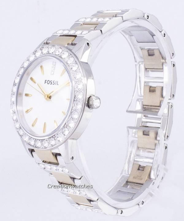 6496330243d6 Fósiles Jesse cristal cuarzo bicolor ES2409 Watch de Women es