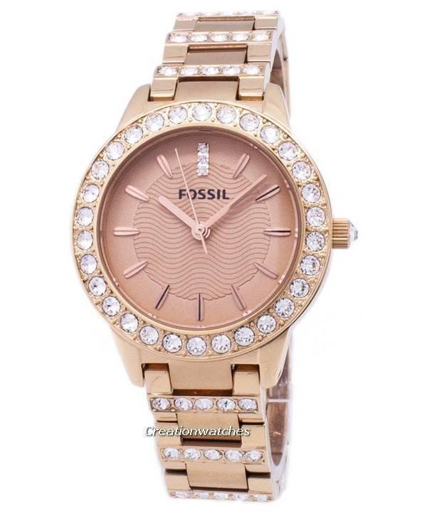 ffdd9533191b Fósiles Jesse cristal rosa oro tono ES3020 Watch de Women es