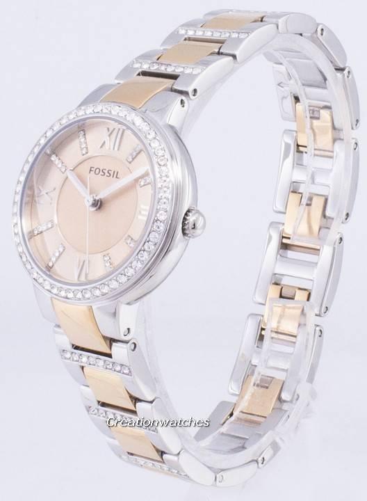 6448c65ceff4 Fósiles Virginia rosa esfera cristal bicolor ES3405 Watch de Women es