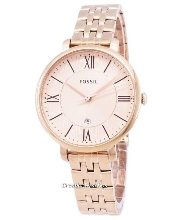 Ορυκτά Jacqueline Rose Gold-ήχος αναλογικό ES3435 γυναικείο ρολόι el 1f8f43428a2