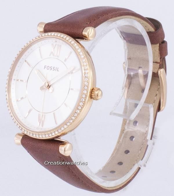 a61af748743 Relógio fóssil Carlie ES4428 diamante quartzo analógico feminino pt