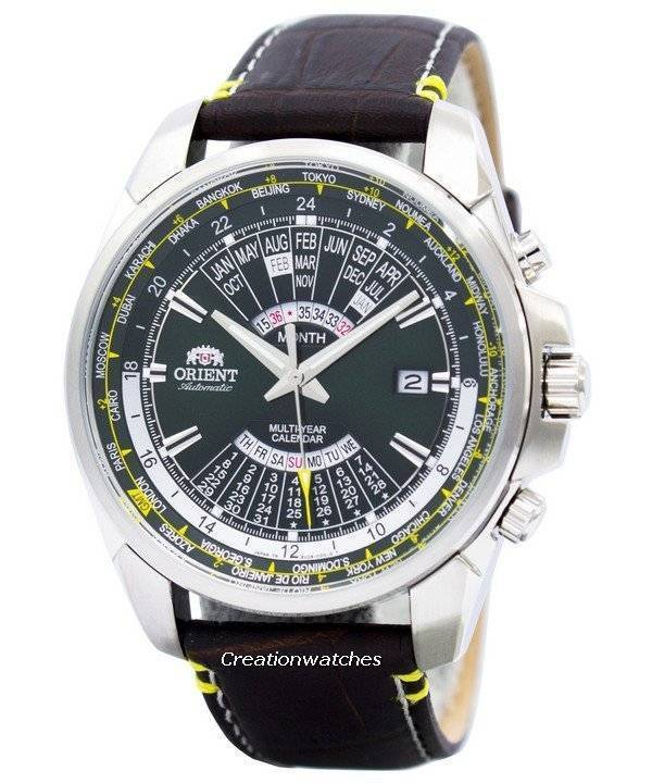 869fe8ecc Orient Automatic Multi Year Calendar World Time EU0B003F Men's Watch