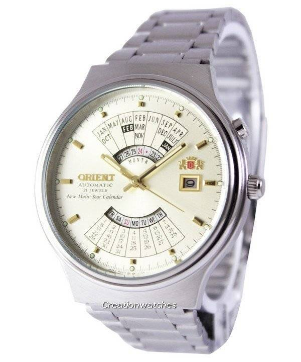 d546913cf Orient Automatic 21 Jewels Multi Year Calendar FEU00002CW Men's Watch