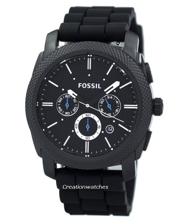 32f745bcb46d75 Orologio uomo cronografo Fossil Machine cinturino in Silicone nero ...