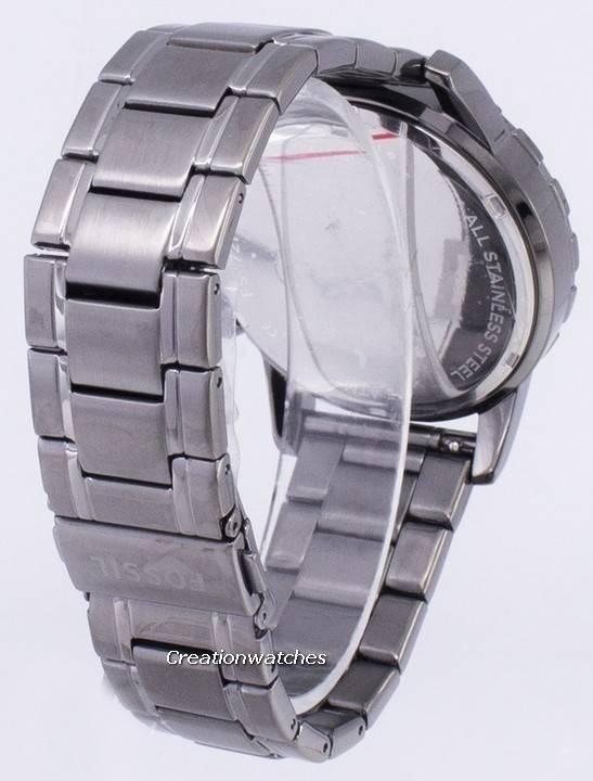 12c59c1bd Fossilt Dean Chronograph røyk grå Ion belagt FS4721 menn klokke