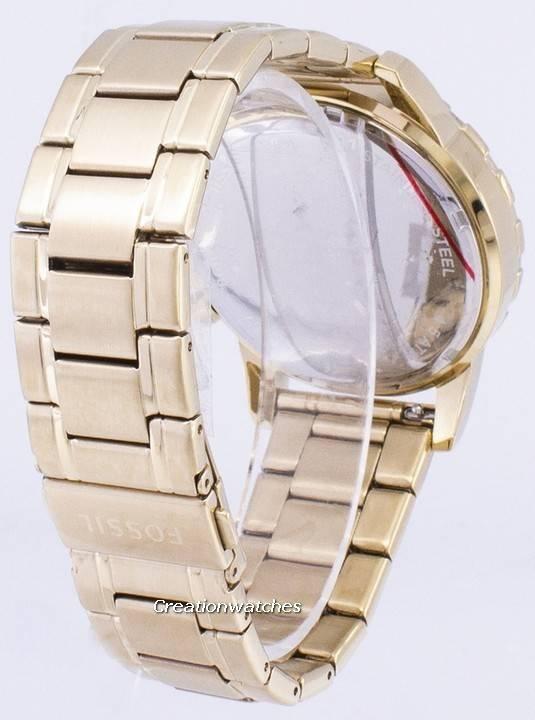 e00f665ed Fossilt Dean Chronograph gull Tone rustfritt stål FS4867 menn klokke
