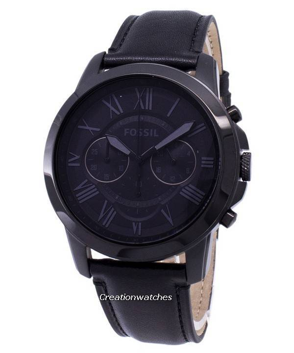 a09fd09ac Fossil Grant Chronograph Black Leather FS5132 Men's Watch
