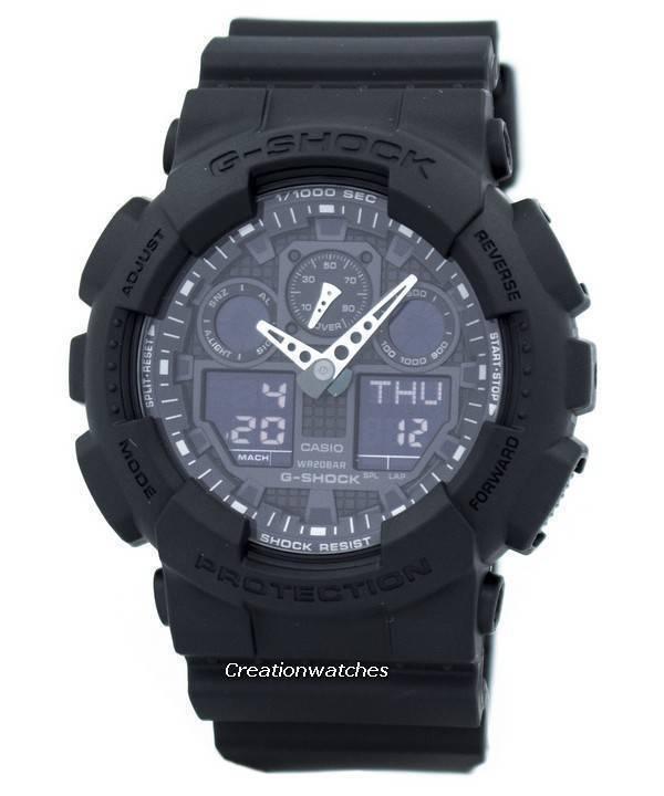 7a4d581928a9 Casio G-Shock GA-100-1A1 GA100-1A1 Shock Resistant 200M Men s Watch