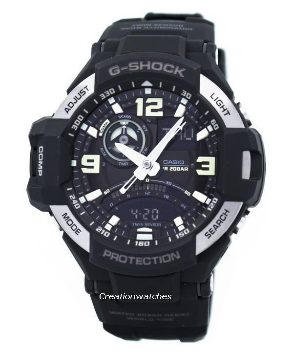 466bbeb53209 Reloj para hombre Casio G-Shock Gravitymaster Twin Sensor GA-1000-1B GA1000