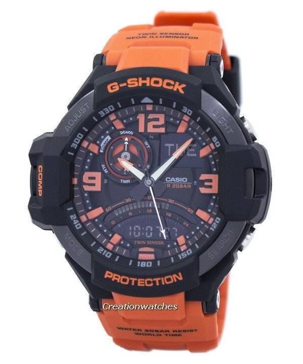 a4165e30604 Relógio Casio G-Shock Gavitymaster Neon iluminador Analógico-Digital GA-1000 -4A