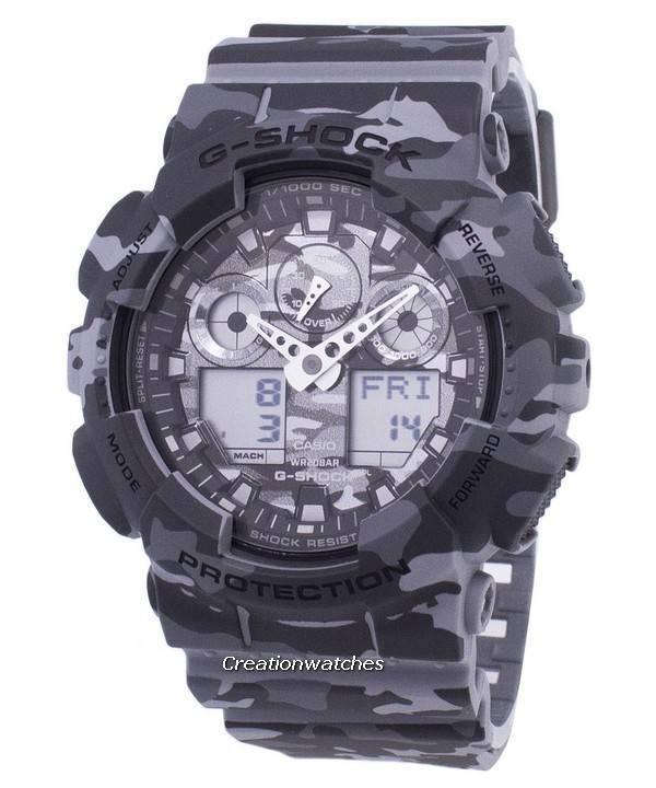 a3d12f368308 Casio G-Shock Camouflage Series Analog Digital GA-100CM-8A GA100CM-8A Men s  Watch