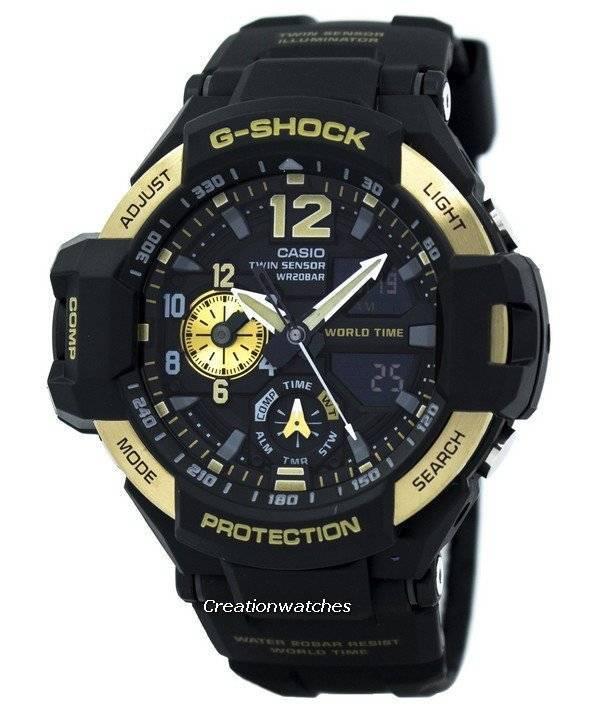 e715d0641d7b Reloj Casio G-Shock GRAVITYMASTER Twin Sensor mundo tiempo GA-1100-9 ...