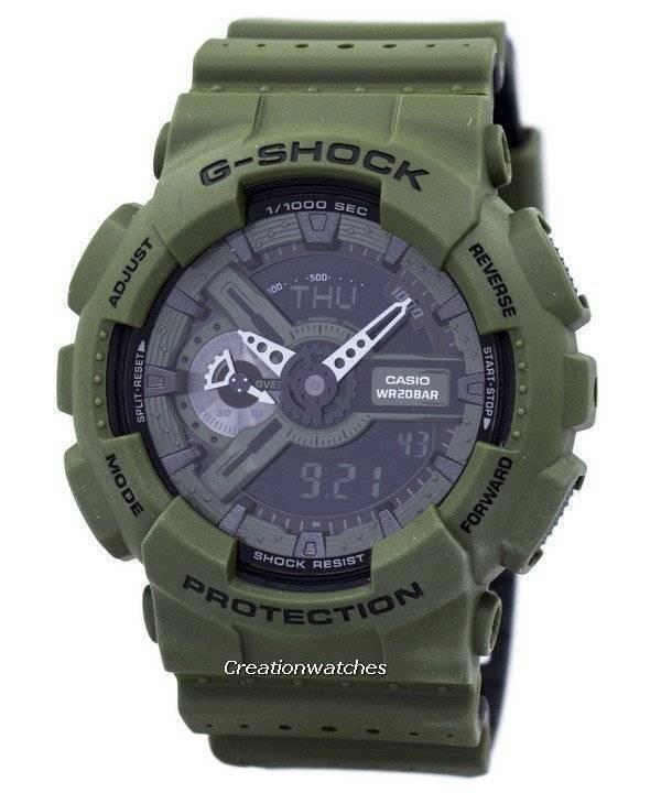 69016881d92 Relógio Casio G-Shock resistente ao choque mundial hora alarme Analógico  Digital GA-110LP