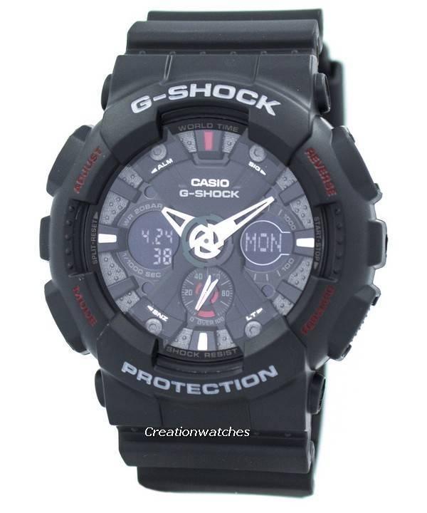 8bc0e72eb676 Reloj Casio G Shock GA-120-1A negro analógica Digital de los hombres es