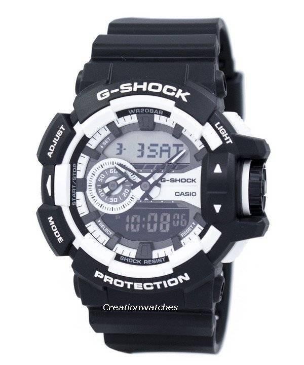 fe327a06504 Relógio Casio G-Shock 200m Analógico-Digital GA-400-1A masculino pt
