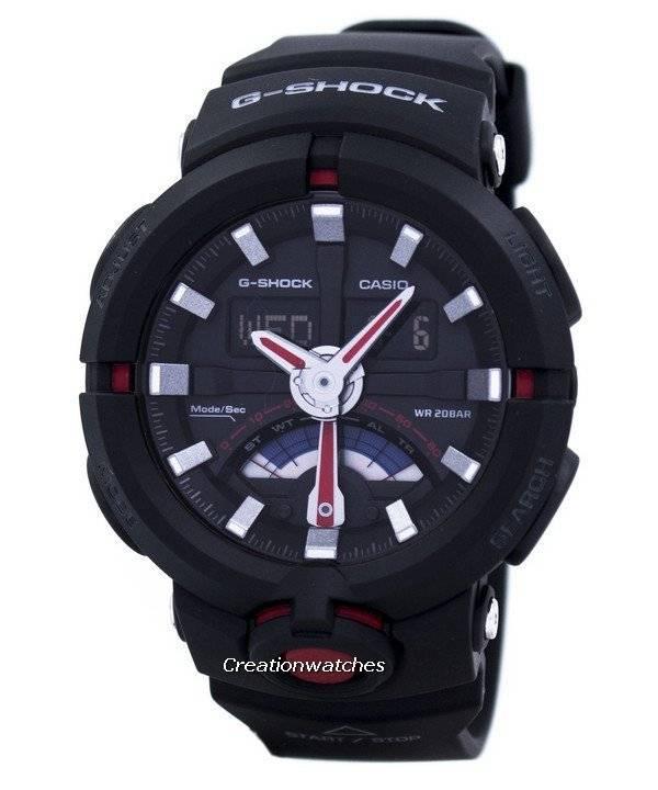 37954fb08b4 Relógio Casio G-Shock Analógico Digital Mundial tempo 200m GA-500-1A4  masculino