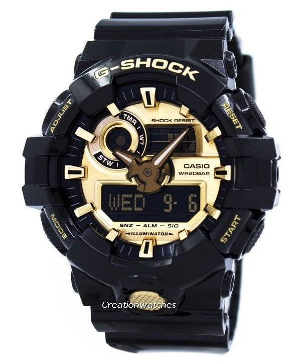 ea5e350be65 Casio G-Shock Analógico Digital relógio 200m GA-710GB-1A masculino pt