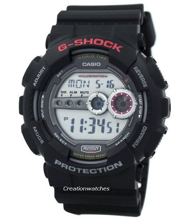 8a9e38b14 Casio G-Shock World Time GD-100-1ADR GD100-1ADR 200M Digital Men s Watch