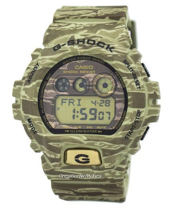 f457c0f8fd7a Casio G-Shock iluminador camuflaje mundial hora 200M GD-X6900TC-5 reloj de