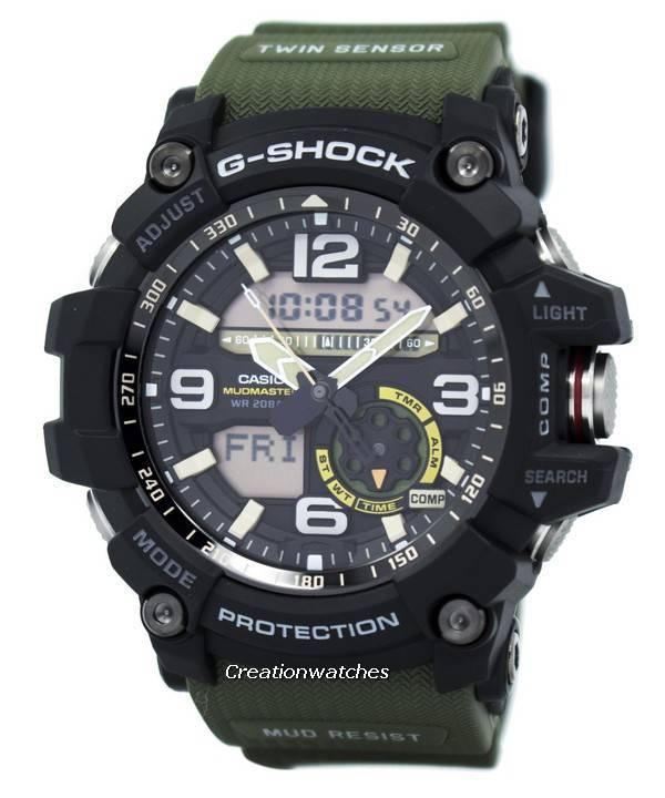 Casio G-Shock Mudmaster Analog Digital Twin Sensor GG-1000-1A3 GG1000-1A3  Men s Watch 21dc83c95d
