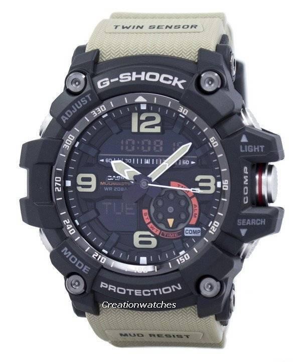 bbeece2572d Relógio Casio G-Shock Mudmaster Analógico Digital Twin Sensor GG-1000-1A5  masculino