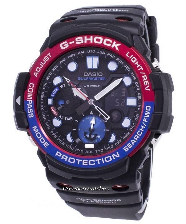 5ad356b818d Relógio Casio G-Shock GULFMASTER Twin Sensor GN-1000-1A masculino pt