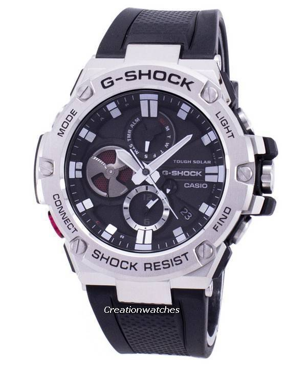 0e3bf86bcb Casio G-Shock G-Steel Tough Solar Analog GST-B100-1A GSTB100-1A Men's Watch