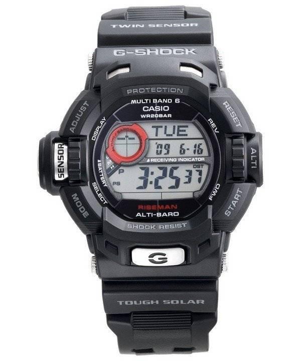 7838d653fe8 Relógio Casio G-Shock Riseman Twin Sensor atômica GW-9200-1 masculino pt