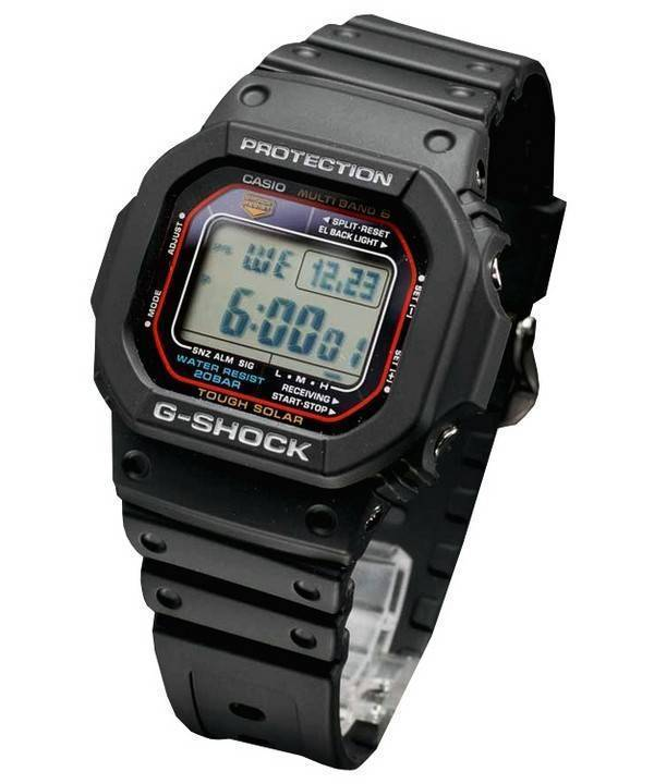 2c144ed050b Reloj Casio G-Shock Tough Solar multi banda 6 GW-M5610-1JF varonil es