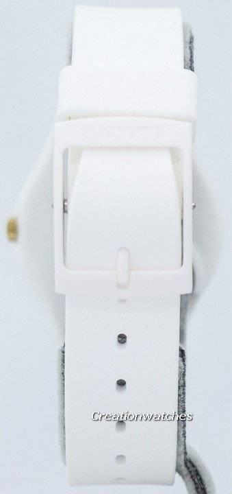 Swatch Originals White Bishop Quartz GW164 Unisex Watch - Click Image to Close