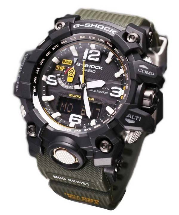 7c6417083325 Reloj para hombre Casio G-Shock Mudmaster Triple Sensor GWG-1000-1A3JF  GWG1000