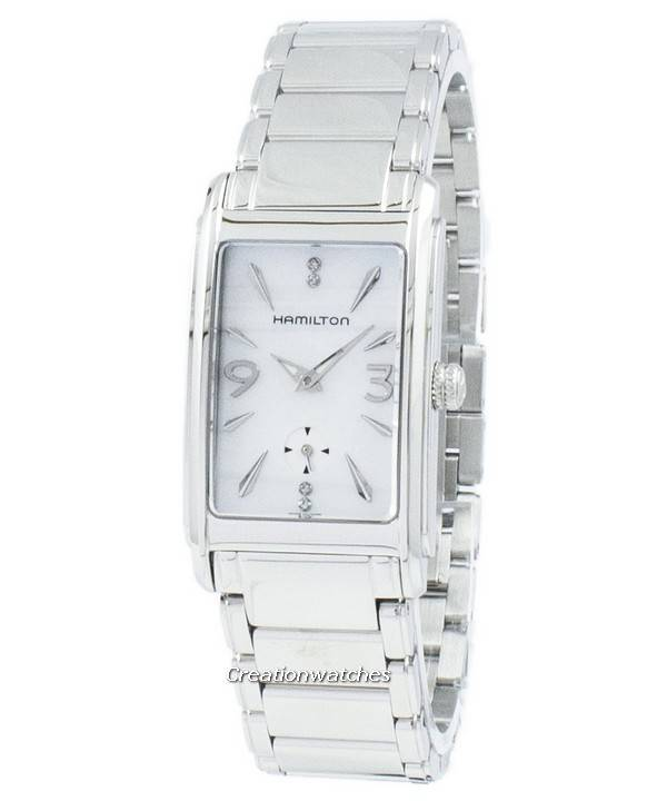online retailer d498f 788d3 ハミルトン アードモア アメリカの古典的なダイヤモンドのアクセント石英 H11411115 レディース腕時計