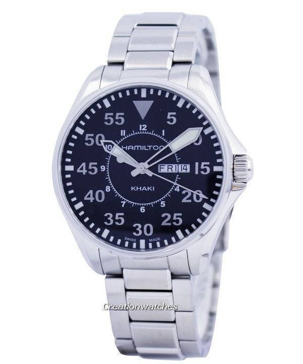 b143c55d5f6 Hamilton Khaki Pilot Quartz H64611135 Men s Watch