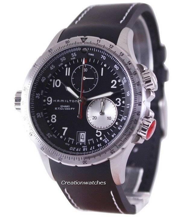 Hamilton Cronógrafo Eto Reloj H77612333 Hombre Khaki Para N8n0vwm