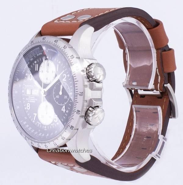 d82a94e352d Hamilton Khaki X-Wind Automatic Chronograph H77616533 Men s Watch