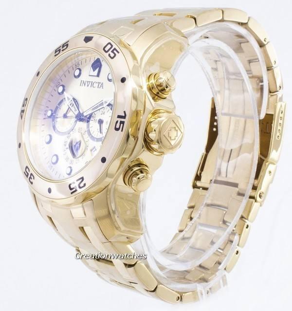 9437e0505 Invicta Pro-Diver Chronograph Gold Dial 0074 Men's Watch