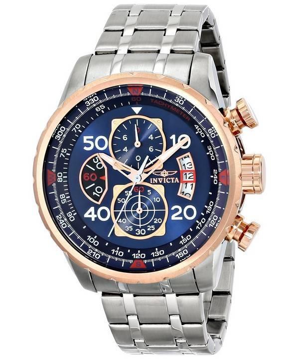 42dd43218 Relógio Invicta aviador quartzo Cronógrafo Dial azul 17203 masculino pt