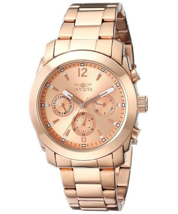 Invicta Angel Gold Dial Rose Gold Plated Stainless Steel 17902 Women s Watch 07a04c2da