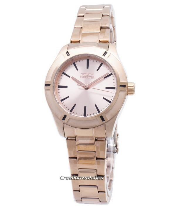 4dd1f266dbe Invicta Pro Diver quartzo rosa relógio ouro 18031 feminino pt